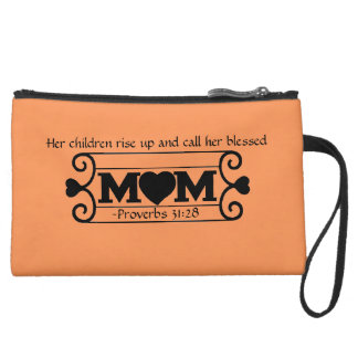 Her children call her blessed Mother's Day Wristlet Purse