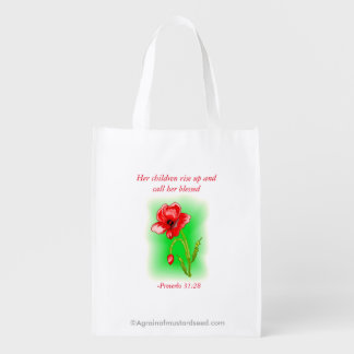 Her children call her blessed reusable grocery bag