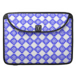 Her Cute Girly Style Blue & White Damask Girls Sleeves For MacBook Pro