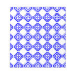 Her Cute Girly Style Blue & White Damask Girls Memo Notepad