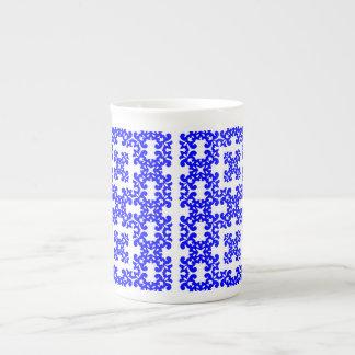 Her Cute Girly Style Blue White Damask Girls Porcelain Mug