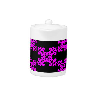 Her Cute Girly Style Pink & Black Damask Girls