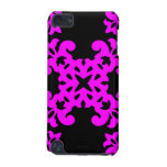 Her Cute Girly Style Pink & Black Damask Girls iPod Touch 5G Cases