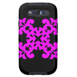 Her Cute Girly Style Pink & Black Damask Girls Galaxy S3 Covers