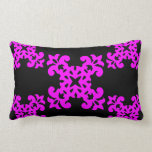 Her Cute Girly Style Pink & Black Damask Girls Pillows