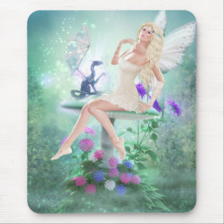 Her Dragon Friend Mouse Pad