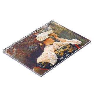 Her Fan 1875 Spiral Notebook