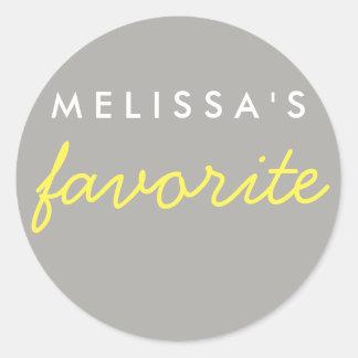 """Her"" Favorite Snack Classic Round Sticker"