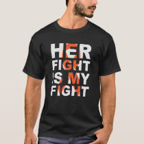 Her Fight is My Fight Thyroid Cancer t-shirt