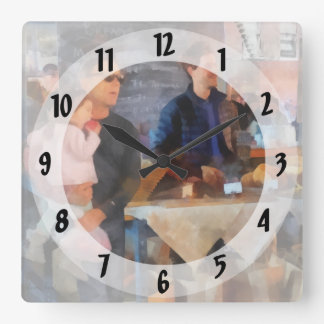 Her First Farmer's Market Square Wall Clock