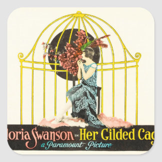 Her Gilded Cage (Paramount, 1922) Square Sticker