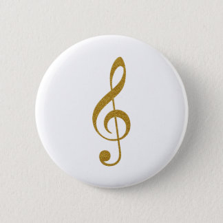 her gold treble clef musical note button