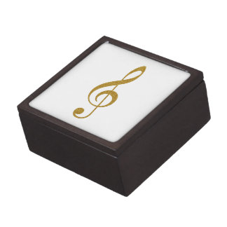 her golden treble clef musical note gift box