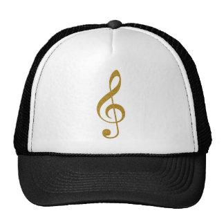 her golden treble clef musical note trucker hat