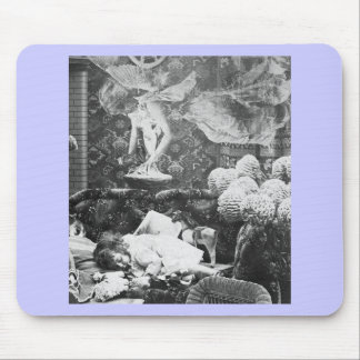Her Guardian Angel -- Vintage Stereoview Mouse Pad