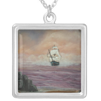 Her Guiding star 2 Square Pendant Necklace