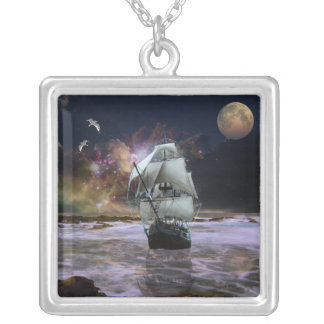 Her Guiding Star Silver Plated Necklace