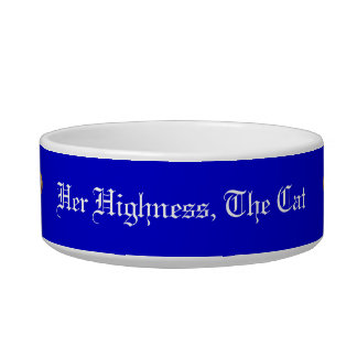 """Her Highness"" cat bowl"