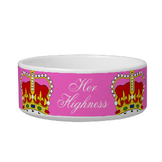 Her Highness Pet Bowl customizable