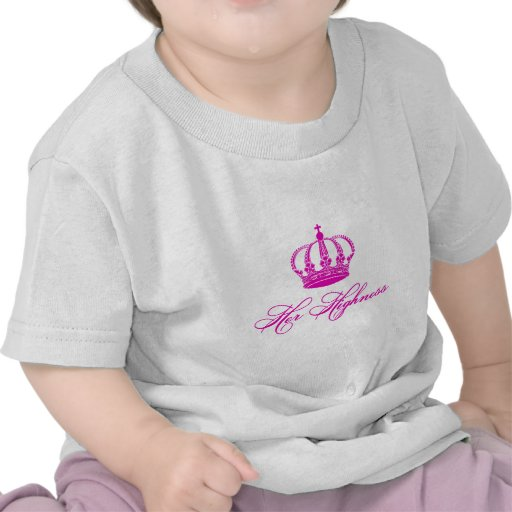 Her Highness text design with an old crown T Shirt