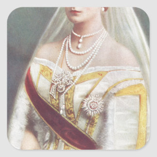 Her Imperial Majesty The Empress of Russia Square Sticker