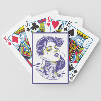 HER IN VIOLET BICYCLE POKER CARDS