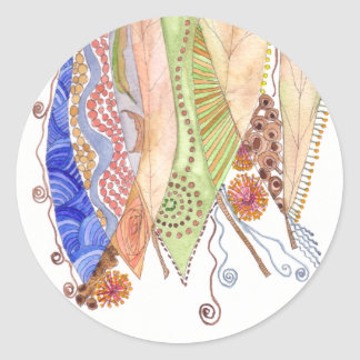Her Jewelled Sea 1 Classic Round Sticker