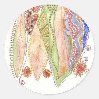 Her Jewelled Sea 2 Classic Round Sticker
