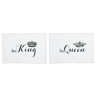 """Her King, His Queen"" V2 Pillowcase Set"