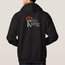Her King, K on front pocket Hoodie