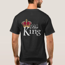 Her King, K on front pocket T-Shirt