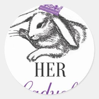 Her Ladyship Classic Round Sticker