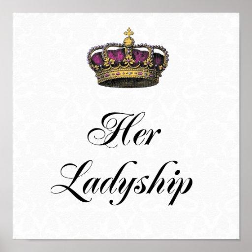 Her Ladyship Print