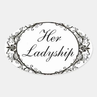 """Her Ladyship"" Vintage Label Stickers"