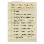 HER LIST - Maid or Matron of Honor - FUNNY Greeting Card