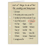 HER LIST - Thanks OTHERS - FUNNY Cards