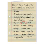 HER LIST - Thanks Reader - FUNNY Greeting Card