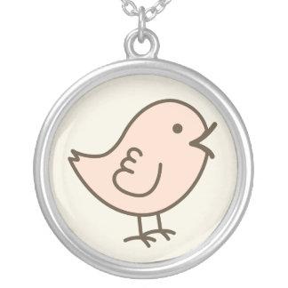 Her Little Pink Love Bird Vector Art Custom Jewelry