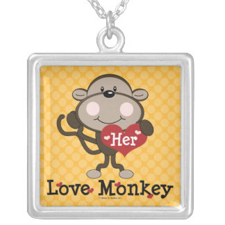 Her Love Monkey Necklace