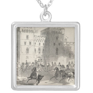 Her Majesty and her Illustrious Visitors Silver Plated Necklace