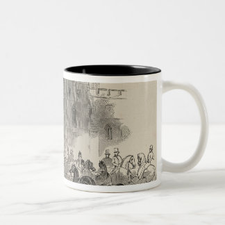 Her Majesty and her Illustrious Visitors Two-Tone Coffee Mug