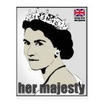 her majesty postcard