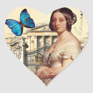 Her Majesty Queen Victoria Heart Sticker