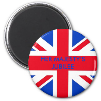 HER MAJESTY'S JUBILEE 2 INCH ROUND MAGNET
