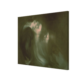 Her Mother's Kiss, 1890s Gallery Wrap Canvas