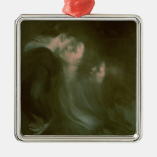 Her Mother's Kiss, 1890s Metal Ornament