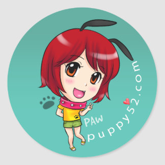 Her name is Paw Classic Round Sticker