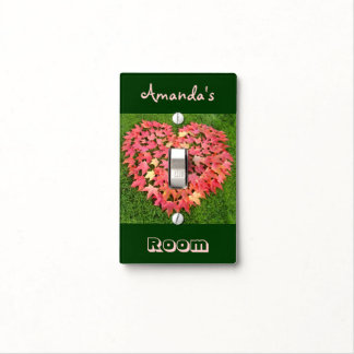 Her Name Room light switch cover Autumn Heart