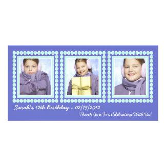 Her Photo in Lights Purple Birthday Diva Card
