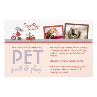 """Her Pup 5.5""""x8.5"""" Flyers"""